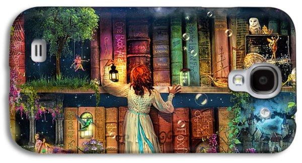 Fairytale Treasure Hunt Book Shelf Variant 2 Galaxy S4 Case by Aimee Stewart