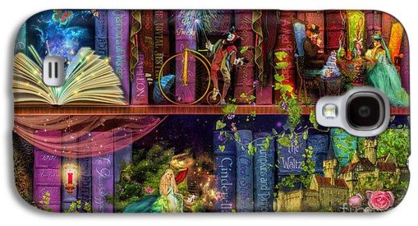 Fairytake Treasure Hunt Book Shelf Variant 4 Galaxy S4 Case by Aimee Stewart