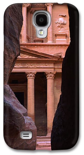 Treasury Through The Rocks, Petra, Wadi Galaxy S4 Case by Panoramic Images
