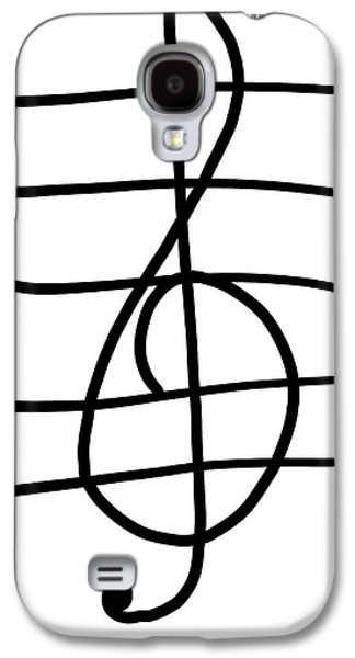 Treble Clef Galaxy S4 Case by Jada Johnson