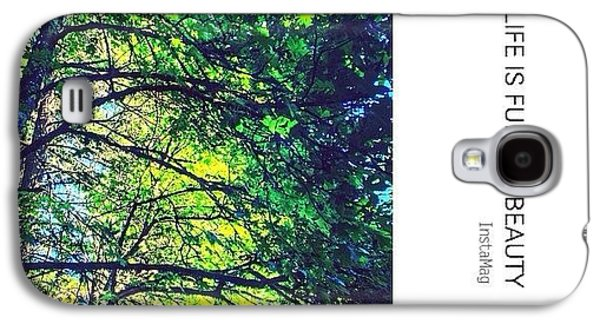 Sunny Galaxy S4 Case - Tree Canopy From My Afternoon Walk by Anna Porter