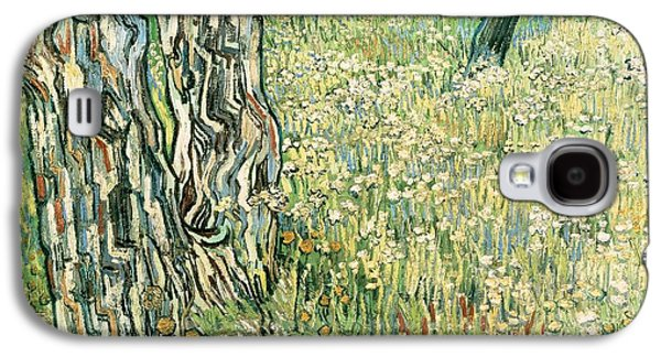 Tree Trunks In Grass Galaxy S4 Case by Vincent van Gogh