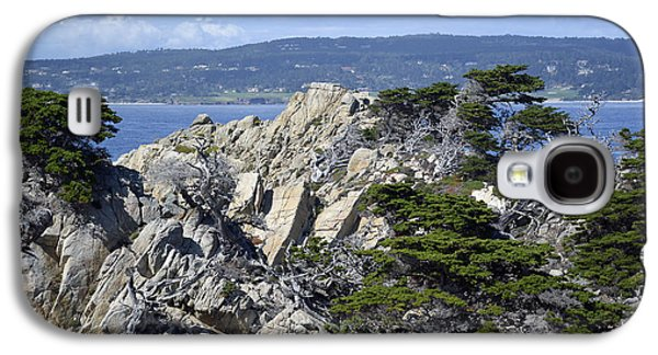 Trees Amidst The Cliffs In California's Point Lobos State Natural Reserve Galaxy S4 Case