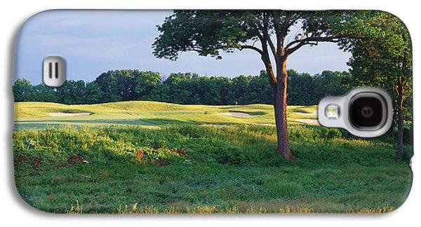 Trees In A Golf Course, Heron Glen Golf Galaxy S4 Case