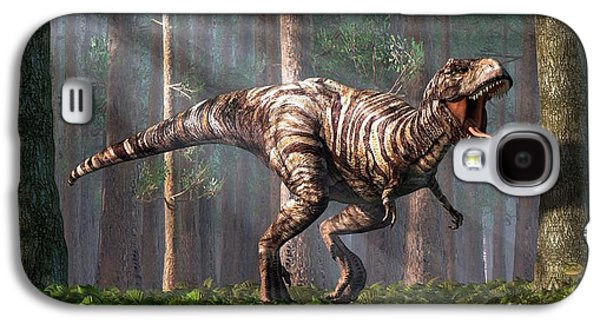 Trex In The Forest Galaxy S4 Case by Daniel Eskridge