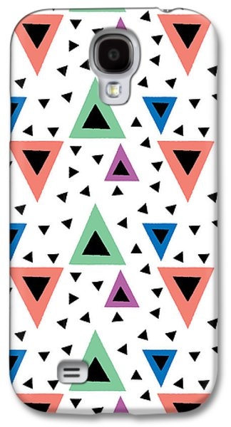 Triangular Dance Repeat Print Galaxy S4 Case by Susan Claire