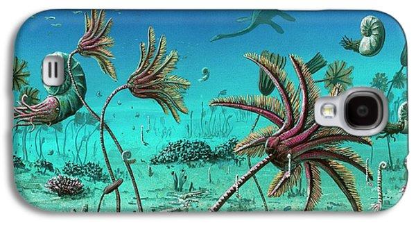 Triassic Underwater Scene Galaxy S4 Case by Richard Bizley