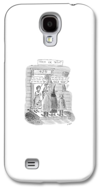 Broccoli Galaxy S4 Case - Trick Or Treat 'here Are Some Broccoli Florets - by Roz Chast