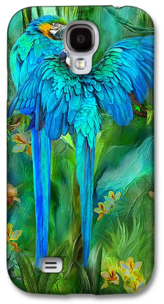 Tropic Spirits - Gold And Blue Macaws Galaxy S4 Case