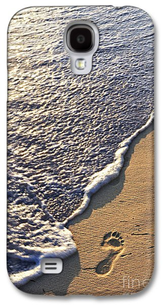 Tropical Beach With Footprints Galaxy S4 Case