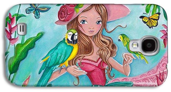 Tropical Bird Love Galaxy S4 Case