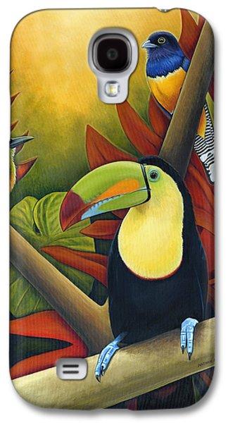 Toucan Galaxy S4 Case - Tropical Birds by Nathan Miller