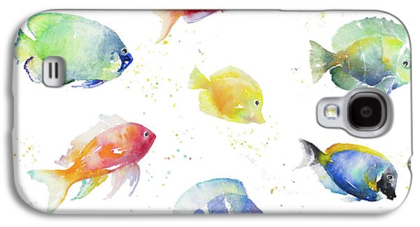 Tropical Fish Round Galaxy S4 Case by Lanie Loreth