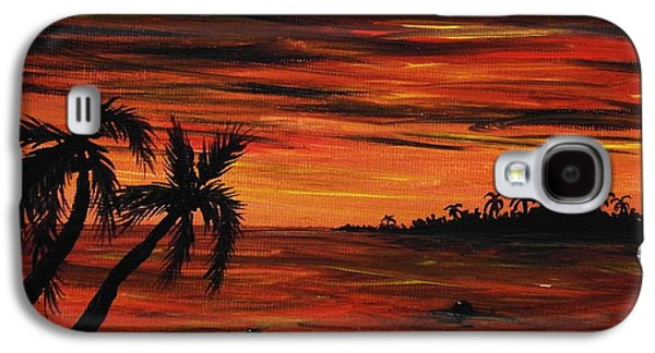Tropical Night Galaxy S4 Case by Anastasiya Malakhova