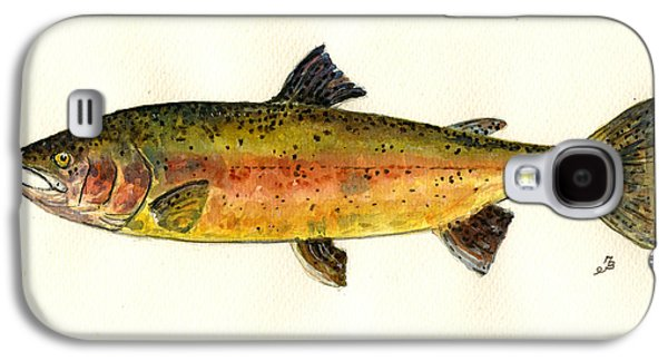 Trout Fish Galaxy S4 Case by Juan  Bosco