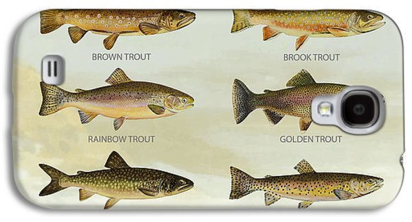 Trout Species Galaxy S4 Case by Aged Pixel
