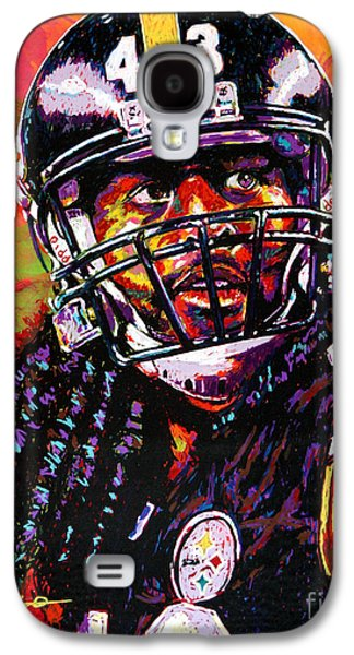 Troy Polamalu Galaxy S4 Case by Maria Arango