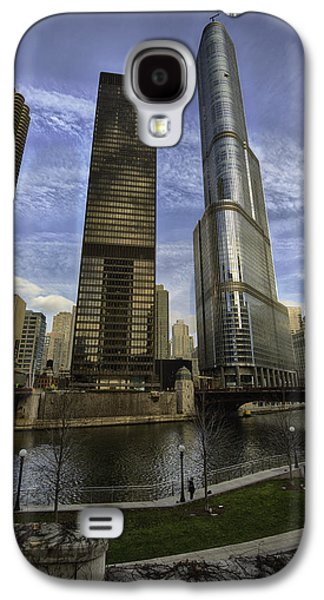 Trump Tower And River Front Galaxy S4 Case by Sebastian Musial