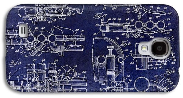 Trumpet Patent Drawing Blue Galaxy S4 Case