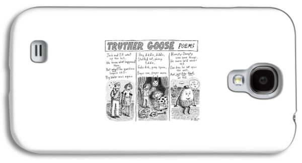 Truther Goose Poems -- A Triptych Of Mother Goose Galaxy S4 Case