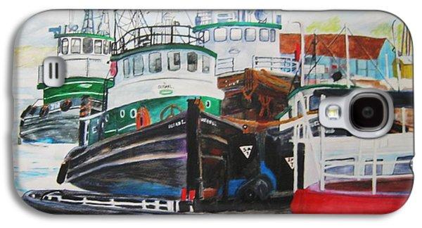 Tugs At Sturgeon Bay Galaxy S4 Case by Kathleen Barlament