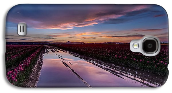 Tulips And Purple Skies Galaxy S4 Case by Mike Reid