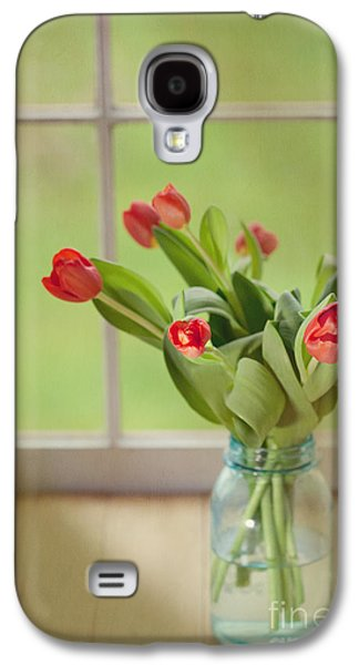 Tulips In Mason Jar Galaxy S4 Case by Kay Pickens
