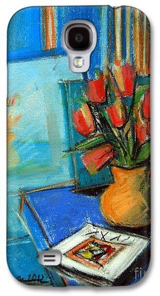 Tulips In The Mirror Galaxy S4 Case by Mona Edulesco