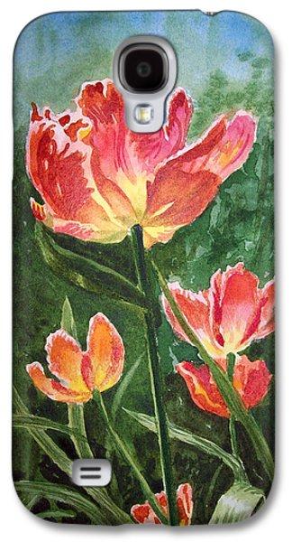Tulips On Fire Galaxy S4 Case by Irina Sztukowski