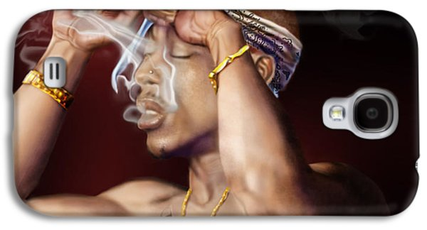 Tupac - Burning Lights Series  Galaxy S4 Case by Reggie Duffie