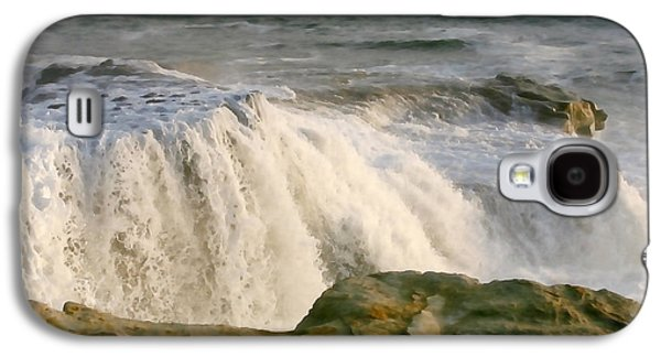 Turbulent Sea Galaxy S4 Case by Art Block Collections