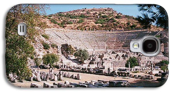Turkey, Ephesus, Main Theater Ruins Galaxy S4 Case by Panoramic Images