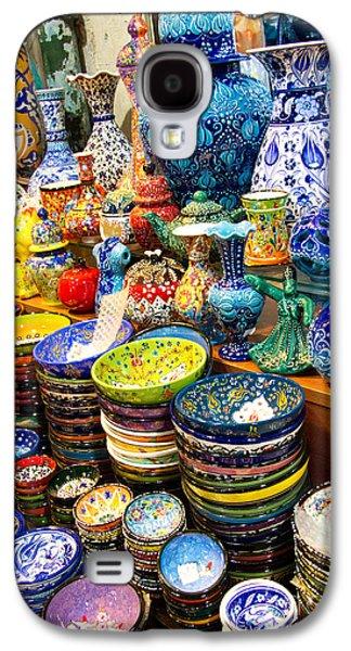 Turkish Ceramic Pottery 1 Galaxy S4 Case by David Smith