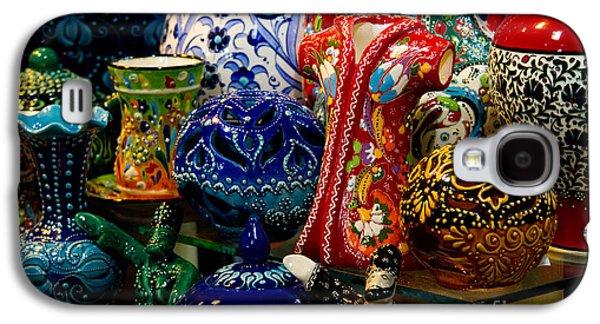 Turkish Ceramic Pottery 2 Galaxy S4 Case by David Smith