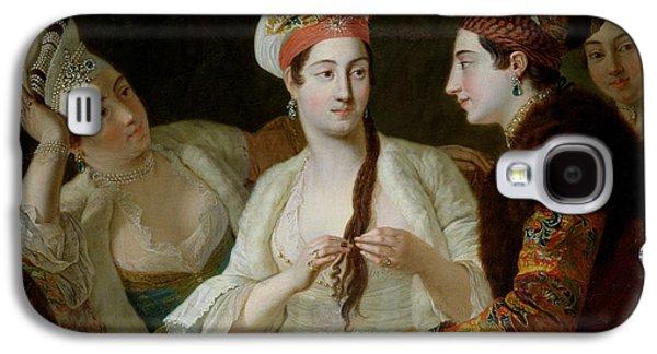 Turkish Women Oil On Canvas Galaxy S4 Case by Antoine de Favray