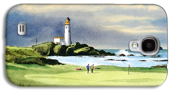 Turnberry Golf Course Scotland 10th Green Galaxy S4 Case by Bill Holkham