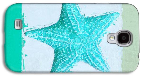 Turquoise Seashells Xi Galaxy S4 Case