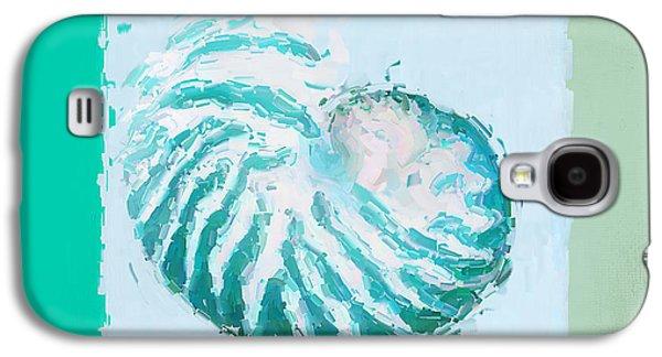 Turquoise Seashells Xii Galaxy S4 Case