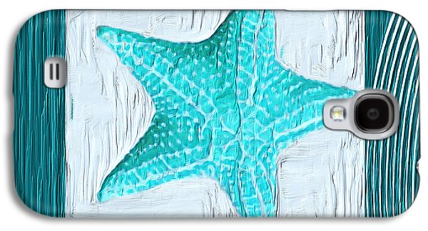 Turquoise Seashells Xviii Galaxy S4 Case by Lourry Legarde