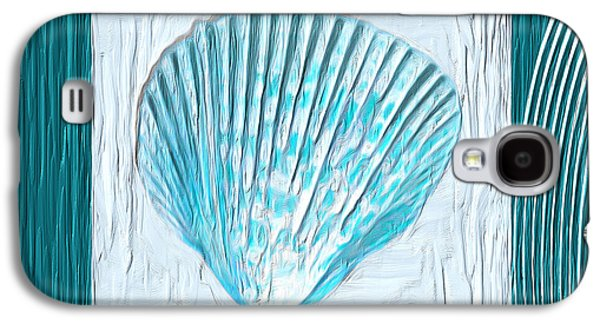 Turquoise Seashells Xxiii Galaxy S4 Case by Lourry Legarde