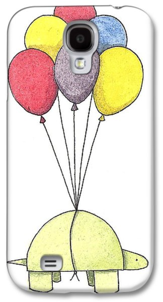 Turtle Balloon Galaxy S4 Case by Christy Beckwith