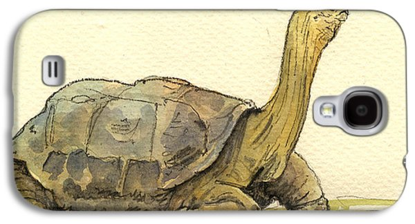 Turtle Galapagos Galaxy S4 Case by Juan  Bosco