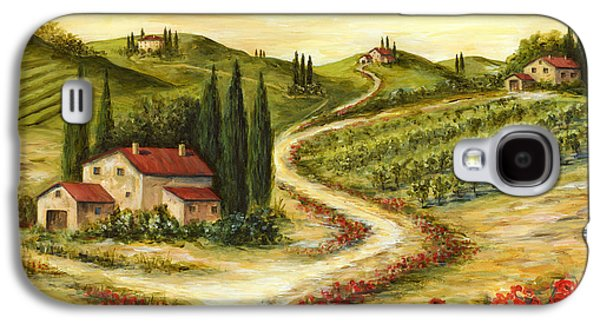Tuscan Road With Poppies Galaxy S4 Case