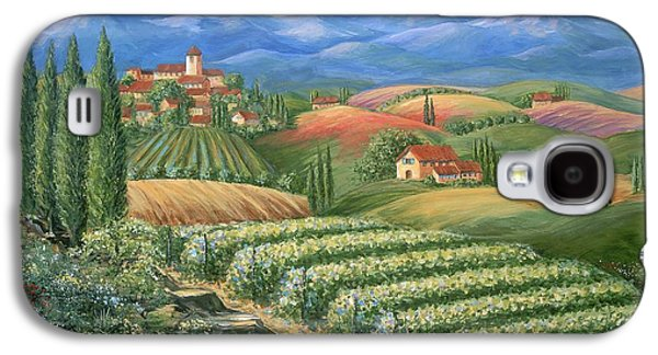 Tuscan Vineyard And Village  Galaxy S4 Case by Marilyn Dunlap