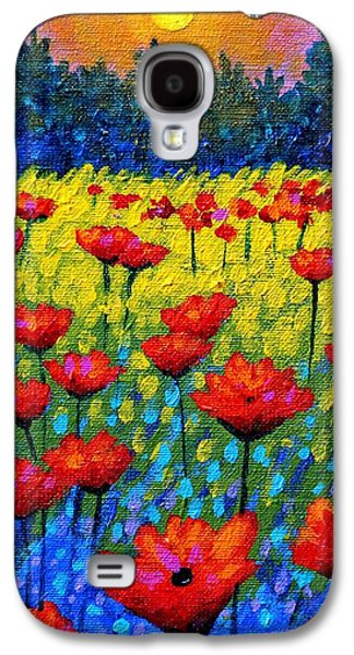Twilight Poppies Galaxy S4 Case by John  Nolan