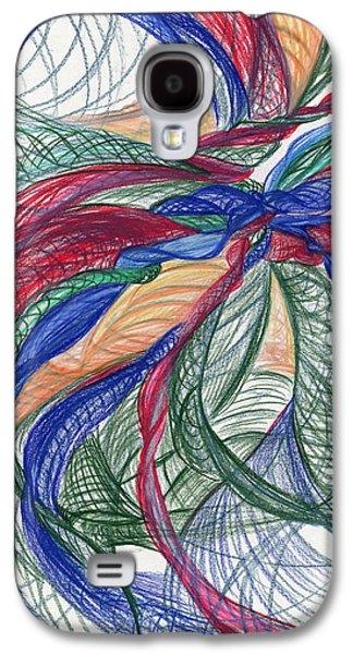 Twirls And Cloth Galaxy S4 Case by Kelly K H B