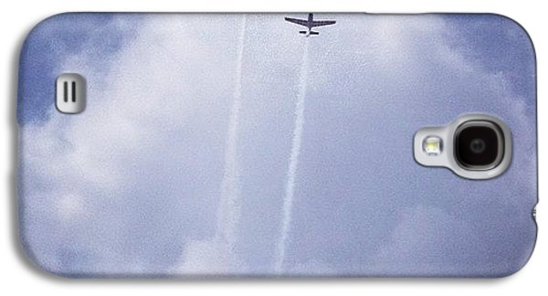 Sky Galaxy S4 Case - Two Airplanes Flying by Christy Beckwith