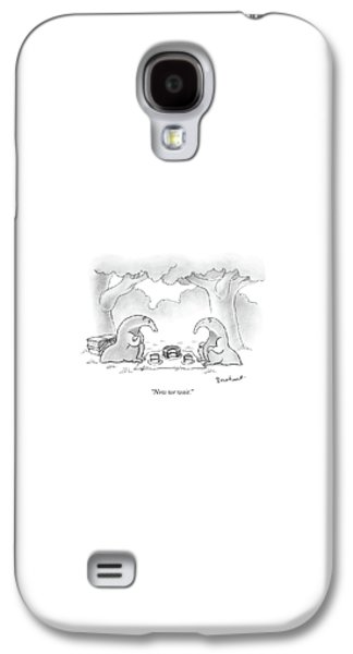 Ant Galaxy S4 Case - Two Anteaters On A Picnic Wait For Ants To Come by David Borchart