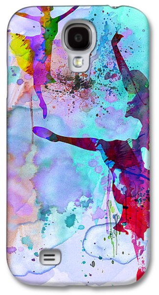 Two Ballerinas Watercolor 4 Galaxy S4 Case
