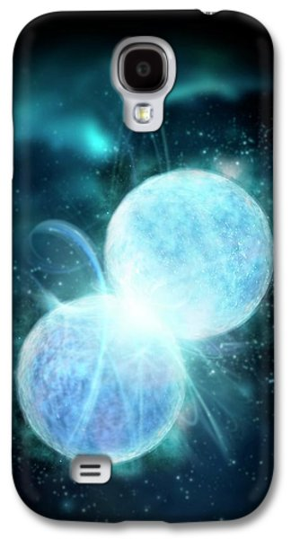 Two Blue Stars Merging Galaxy S4 Case